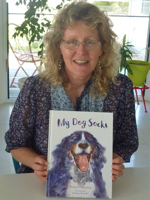 Robyn Osborne and her latest book My Dog Socks