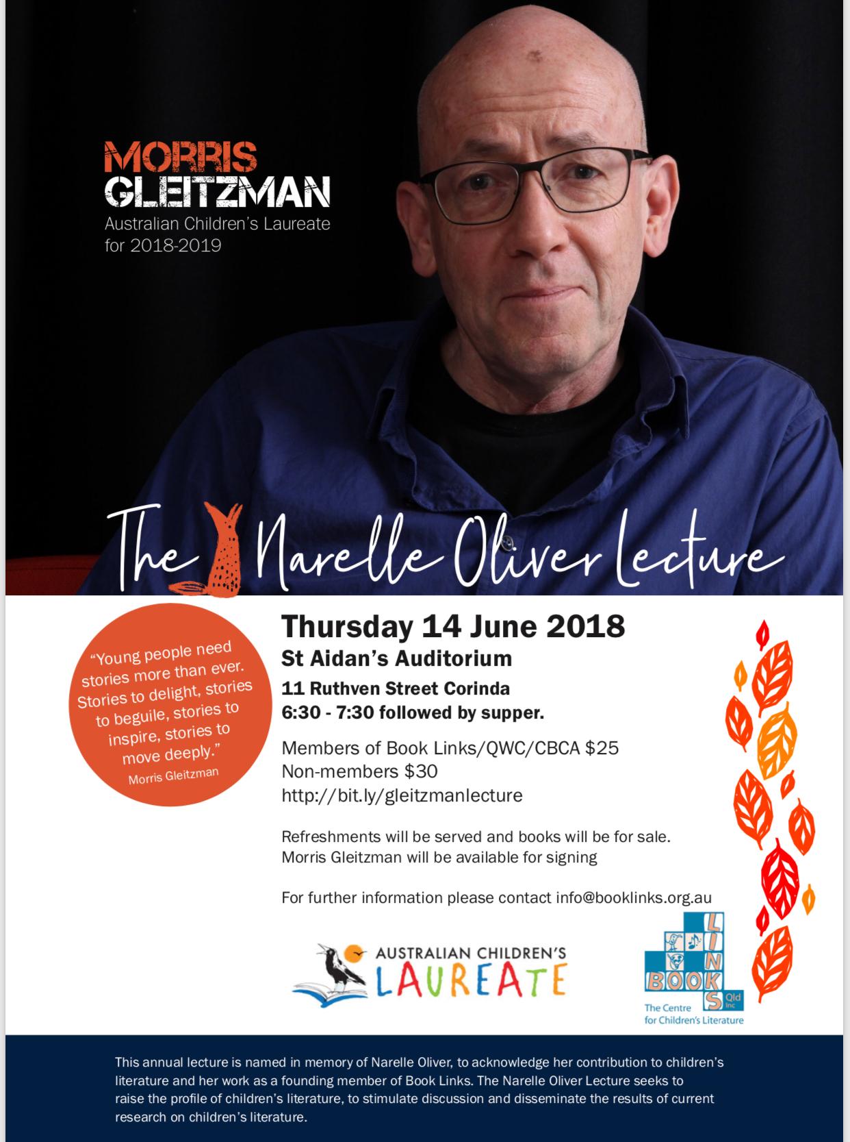 Narelle Oliver Lecture Flyer